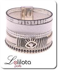 Luxus Breit Leder Armband Paris Ibiza Brasilien Magnetverschluss Wickelarmband