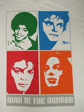 VINTAGE MICHAEL JACKSON MAN IN THE MIRROR POP ART XL WHITE T-SHIRT- J565