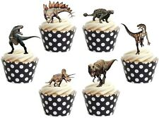DINOSAUR  Edible cake birthday party toppers x 12 STAND UPS