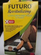 "Futuro Revitalizing Ultra Sheer Knee Highs Socks ""Medium"" Nude 71060EN, 1 Pair"