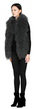NWT $650 Mackage Luella Mongolian Fur Vest With Rib Knit Back Panel Size S/P