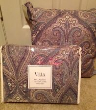 Noble Excellence Villa BEAUMONT Paisley F/Q Duvet Mini Set w/ Pillow $245