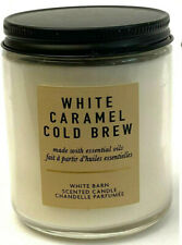 1 BATH & BODY WORKS WHITE BARN SCENTED CANDLE WHITE CARAMEL COLD BREW 7 OZ NEW