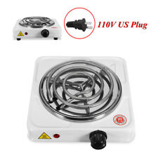 220V 1000W Portable Electric Stove Burner White Hot Plate Heater For Cooking B