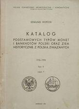 Katalog podstawowych typów monet i banknotów Polski, t.V,cz.1 - Edmund Kopicki
