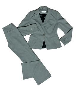 GEORGE Ladies Womens Trouser Suit Size UK 10 Jacket EU 38 Trouser 8 Grey 2 Piece