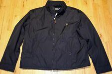 Polo Ralph Lauren Men's Aviator Hooded Windbreaker Lined Jacket Navy Sz XXL NWT