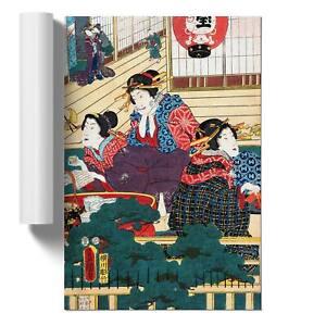 Three Women Resting Wall Art Poster Print Asian Utagawa Kunisada