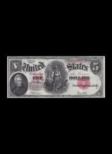 1907 $5 LEGAL TENDER WOODCHOPPER CHOICE UNC