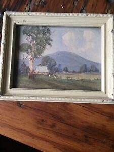 Original Miniature Watercolour By Australian Artist W.L. Slack 1876-1949