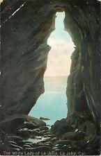 La Jolla California~The White Lady Of La Jolla~1910 Postcard As Is
