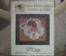 GREAT PLAINS INDIAN MOTHER & CHILD ~ Cross-Stitch Pattern - by Maria E. Cipp NIP