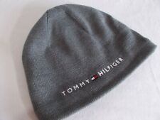 NWT Tommy Hilfiger DANNY SKULLY BEANIE Fleeced Lined HEATHER GREY Hat   ADULT OS