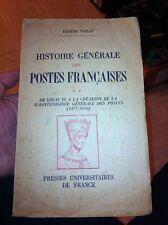 histoire générale des postes françaises vol 2