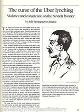 Carson Valley, Nevada Lynching of Al Uber + genealogy