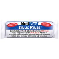 NeilMed Sinus Rinse Saline Nasal Natural Sinus & Allergy Relief sachets x 50