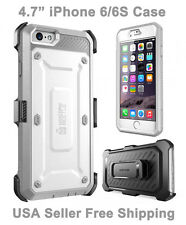 New Supcase For iPhone 6/6S Unicorn Beetle Full Body Rugged Holster Case Gray