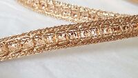1.2cm- Beautiful rose gold sequins lace trimming ribbon for crafts arts 1 metre
