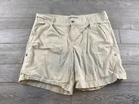 "Columbia Tan Shorts sz 14 Womens 4"" inseam  Hiking Outdoor"