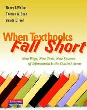 When Textbooks Fall Short: New Ways, New Texts, New Sources of Information in