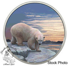 Canada 2018 $30 Arctic Animals and Northern Lights: Polar Bear Fine Silver Coin