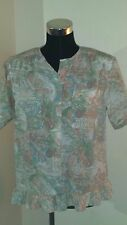 ALFRED DUNNER Women's Floral Button Down Blouse Top Size 8