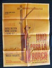 HUGO STIEGLITZ Western UNO PARA LA HORA ROSAS PRIEGO MEXICAN MOVIE POSTER 1972