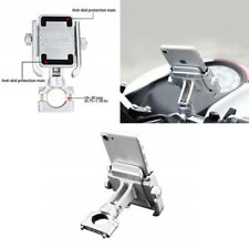 For bicycle motorcycle ATV Aluminum Phone Holder 360 degree rotation Silver