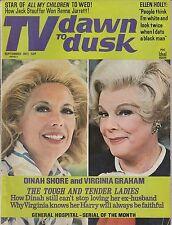 SEPT 1971 TV DAWN TO DUSK soap opera magazine DINAH SHORE