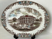 """Johnson Bros. Heritage Hall Made In Staffordshire Oval Serving Platter 14"""" x 11"""""""