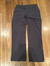 Womens Size 10 The North Face TNF convertible Pants Outdoor Shorts Charcoal Gray