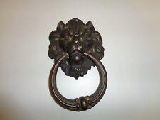 Vintage Lion Head Door Knocker Brass