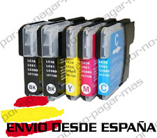 5 CARTUCHOS COMPATIBLES NonOem BROTHER LC980 LC1100 MFC-255CW MFC255CW
