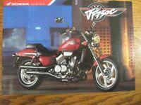 1987 1988 Honda Motorcycle VF750C Brochure Sheet, 4 languages, Original Xlnt