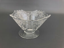 Fostoria Glass Co. ART DECO clear glass mayonnaise bowl MAYFAIR 1930-1944