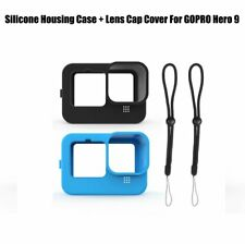 For GOPRO Hero 9 Camera Silicone Housing Case Protective + Lens Cap Cover