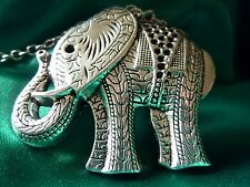 Silver Coloured Bonsny Elephant Necklace,Christmas Gift,Fashion/Costume,Zoo,Cute