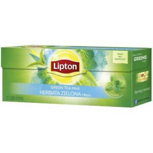 Lipton Green Tea Mint Flavor 25 Teabags Box