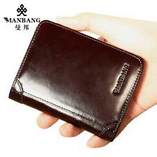 MANBANG Men Bifold Genuine Real Leather Wallet Credit Card Holder Pocket Purse