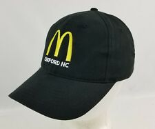 McDonald's Oxford NC Employee Crew Black Hat / Cap Adjustable Adult Size
