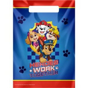 PAW PATROL PARTY BAGS - RANGING FROM 6 BAGS - 30 BAGS YOUR CHOICE