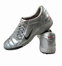 NIKE TOTAL T90 lll Mens Vintage Silver Astraturf Football Boot Trainers Size 12