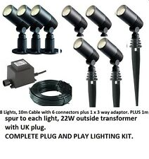 Techmar Alder Garden Outdoor Light Kit 12v  LED 8 Light Kit Plug and Play