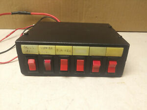 Federal Signal SW300-012 Light Control Switch Box - 6 switches