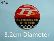 Isle of Man TT Road Racing Capital of the World Gel Badge Sticker