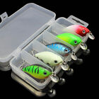 Lot 5Pcs Fishing Lures Kinds Of Minnow Fish Bass Tackle Hooks Baits Crankbait