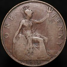 1918 KN   George V One Penny   Bronze   Coins   KM Coins