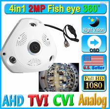 LEXAcctv 1080P FHD 4in1 2MP Fisheye Panoramic 360 degree Camera Wide AHD CVI TVI