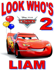 New Cars Lightning McQueen Personalized Birthday T Shirt Party Favor Gift  # 2