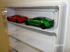 Mach 5 display case (white) w/clear dust cover for 1/20 1/24 1/25 scale Cars